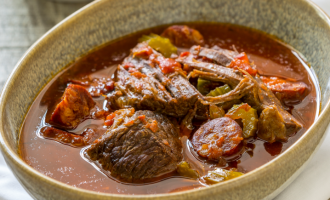 Slow Cooker Beef and Chorizo Stew from Peter Sidwell
