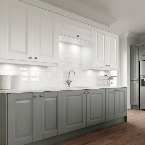 an updated look to a traditional shaker kitchen
