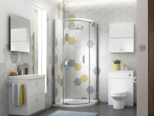 add colour in your bathroom design with patterned tiles