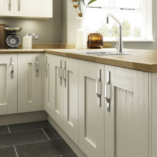 Pair your shaker kitchen with an oak worktop