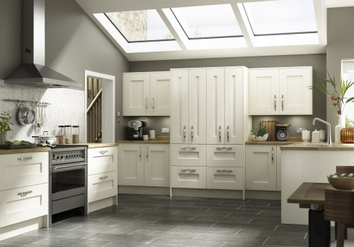 Our traditional shaker kitchen range shown in Ivory