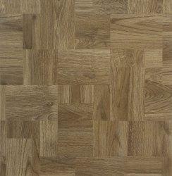 traditional oak effect worktop in a weaved style formation.