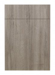 Mid brown woodgrain effect kitchen door frontal