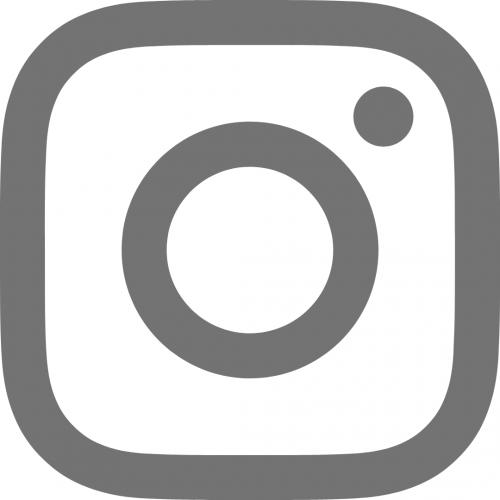 Instagram logo in grey
