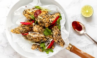 Peter Sidwell Recipes: Sesame Chicken Strips