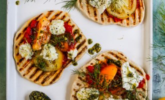 Cook with Peter Sidwell: Tomato & Mozzarella Flatbreads