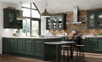 Brand New Bottle Green Kitchens